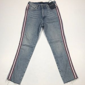 Banana Republic High Rise Straight Ankle Jeans. 25